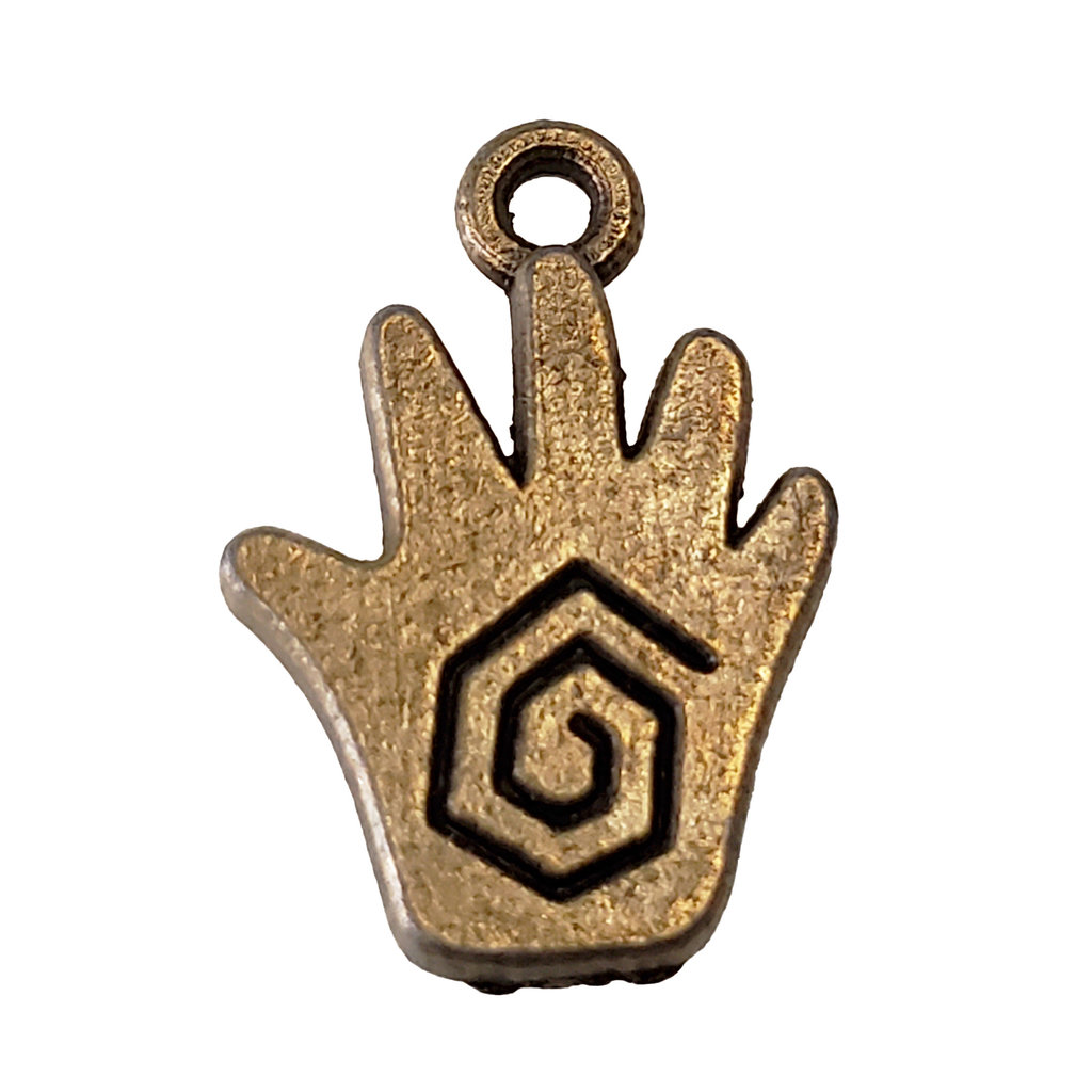 Gold Healing Hand Charm 13x17mm
