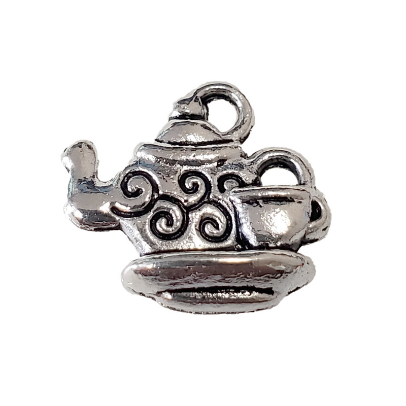 Teapot and Cup Charm 15x14mm