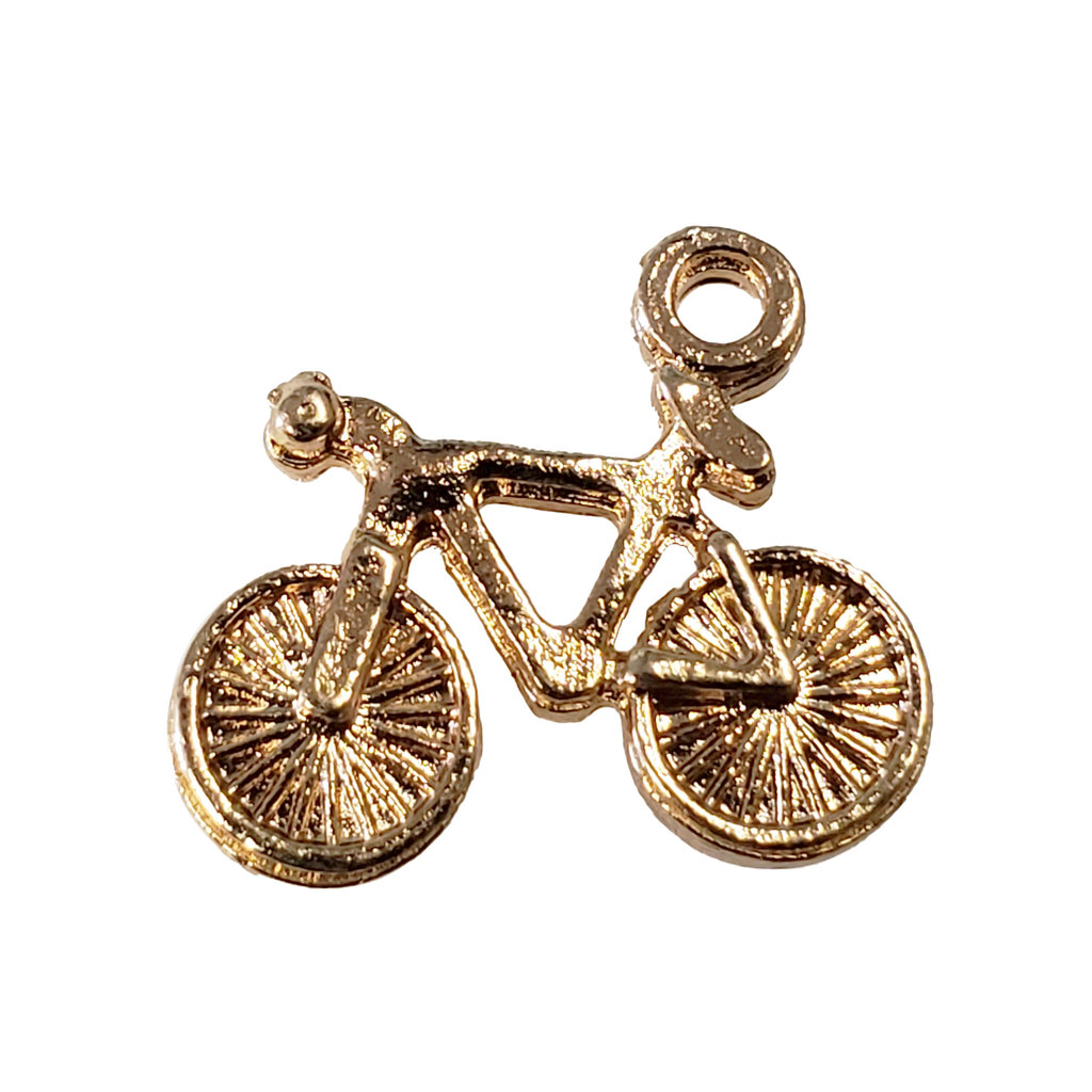 Gold Bike Charm 15x14mm