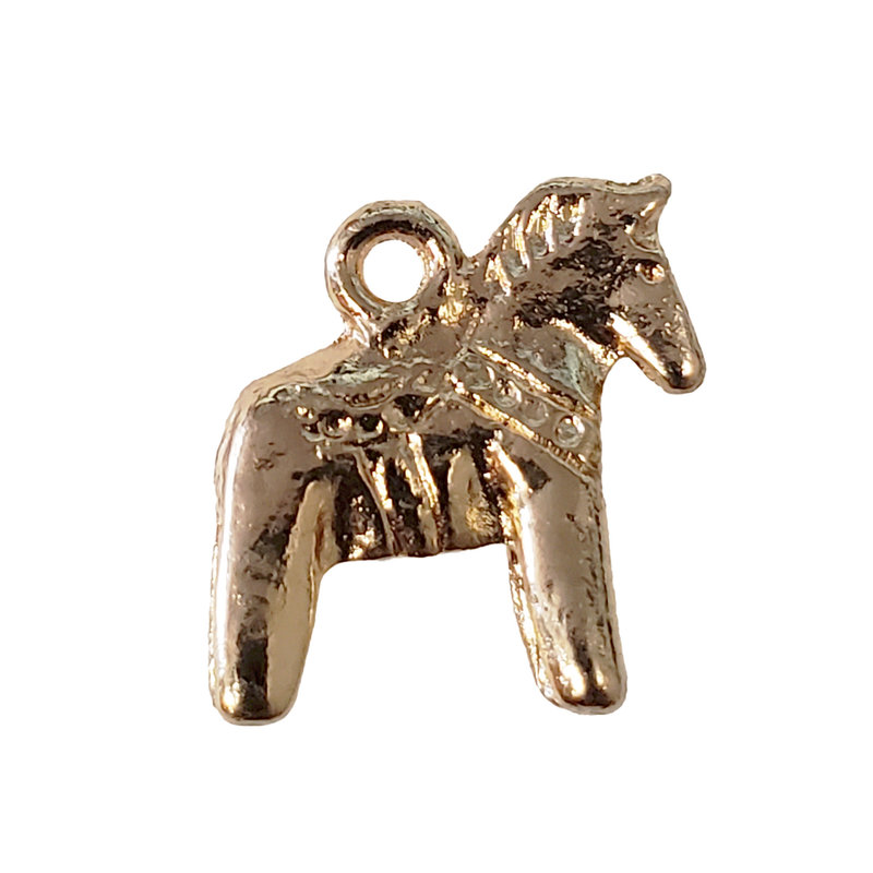 Gold Pony Charm 13x13mm