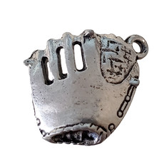 Baseball Glove with Ball Charm 17x17mm