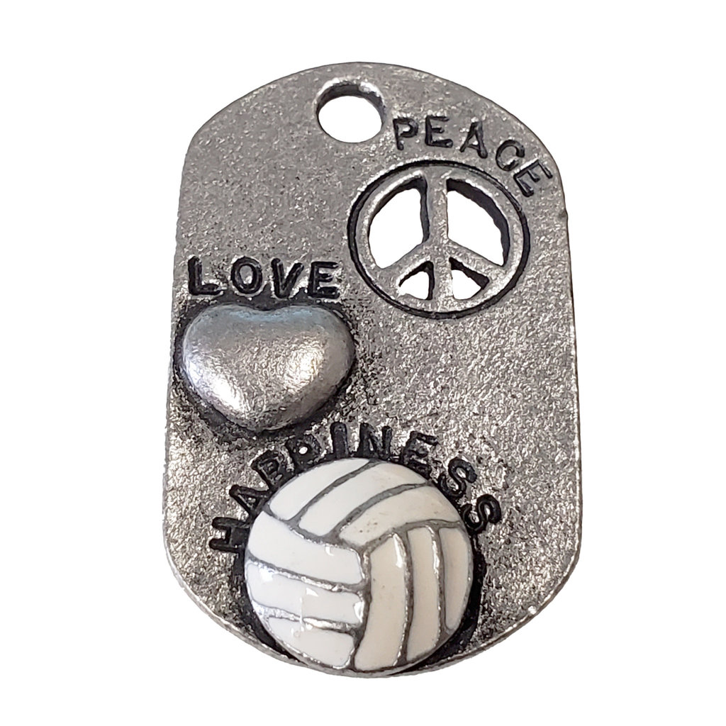 Peace Love Happiness Volleyball 20x33mm