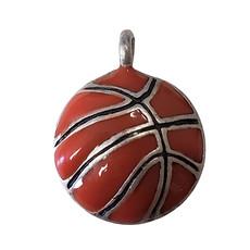Basketball Enamel Charm 17mm