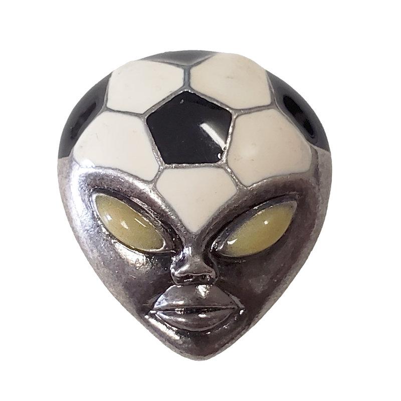 Soccer Ball Alien Head Charm 23x27mm