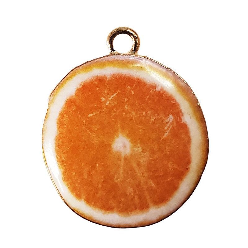 Orange Slice Enamel Charm 25mm