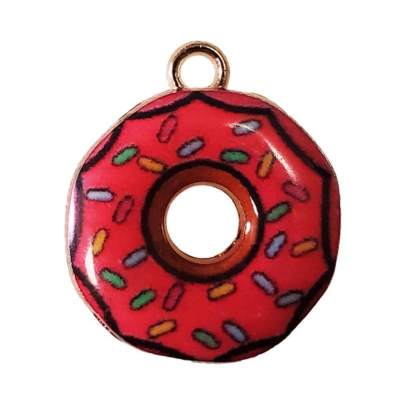 Sprinkler Donut Enamel Charm 19mm