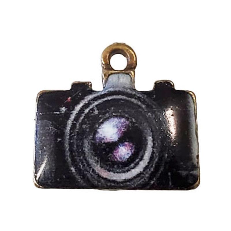 Camera Enamel Charm