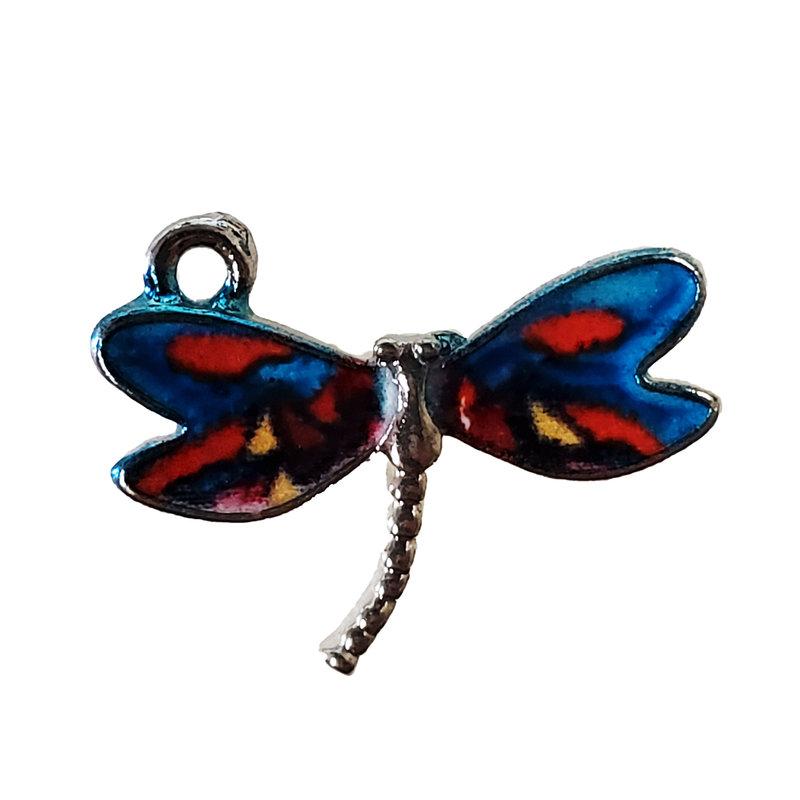 Dragonfly Enamel Charm 22x17mm