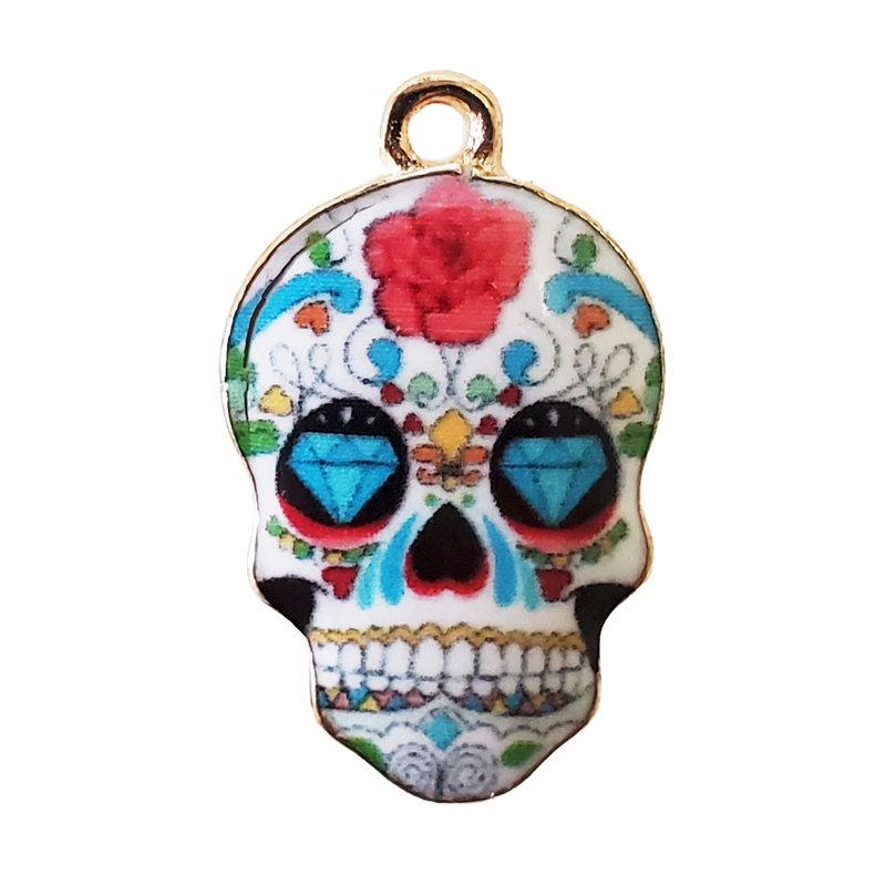 Sugar Skull Diamond Eyes 14x23mm