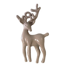 Deer - Beige Colored Charm 16x31mm