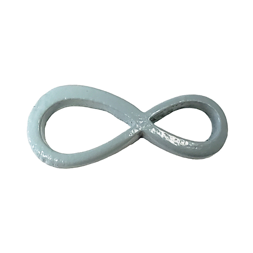 Infinity - Mint Colored Charm 20x9mm