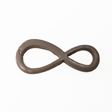 Infinity - Beige Colored Charm 20x9mm