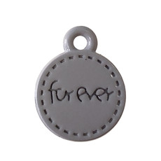 Circle Forever - Grey Colored Charm 11mm