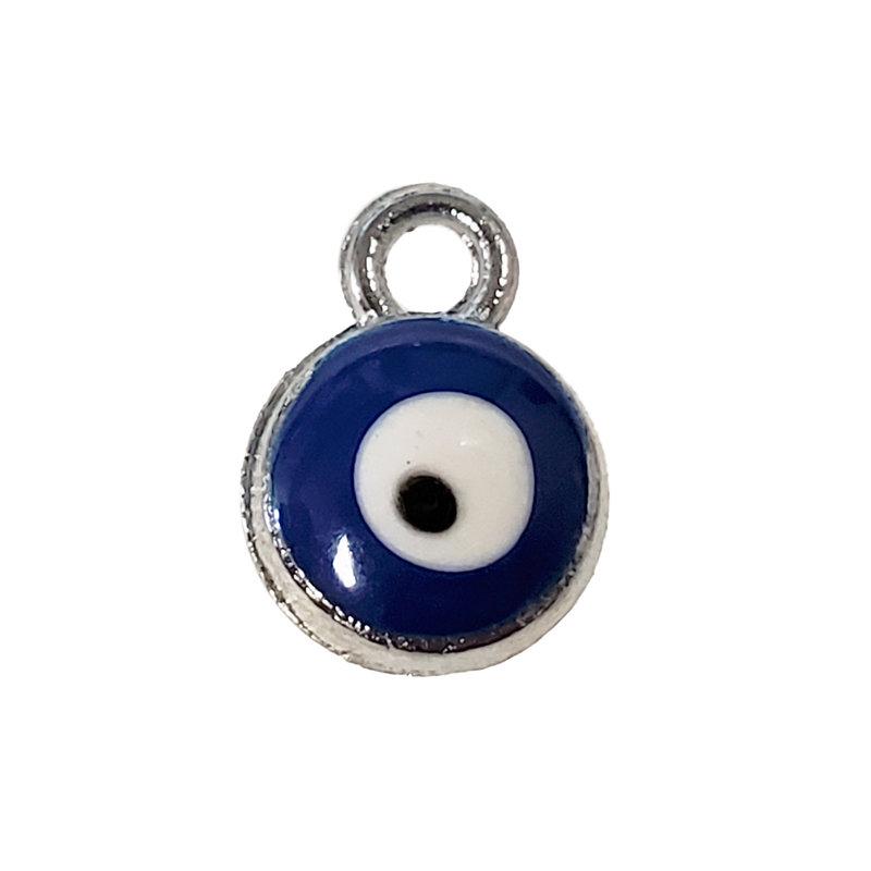 Evil Eye - Dark Blue Charm 7mm