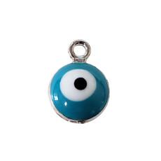 Evil Eye - Light Blue Charm 7mm