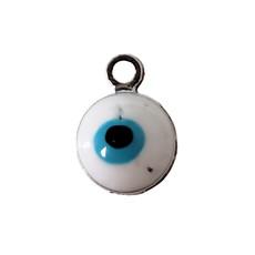 Evil Eye - White Charm 7mm