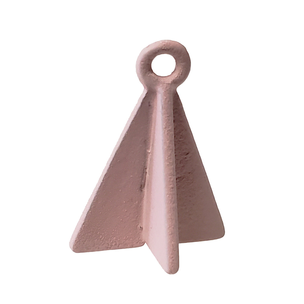 Double Triangle - Pink Colored Charm 8x17mm