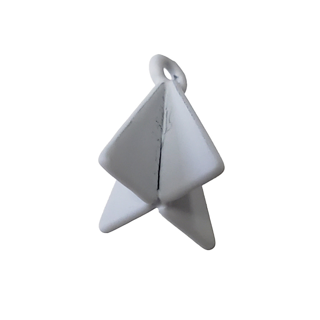 Double Triangle - Grey Colored Charm 8x17mm