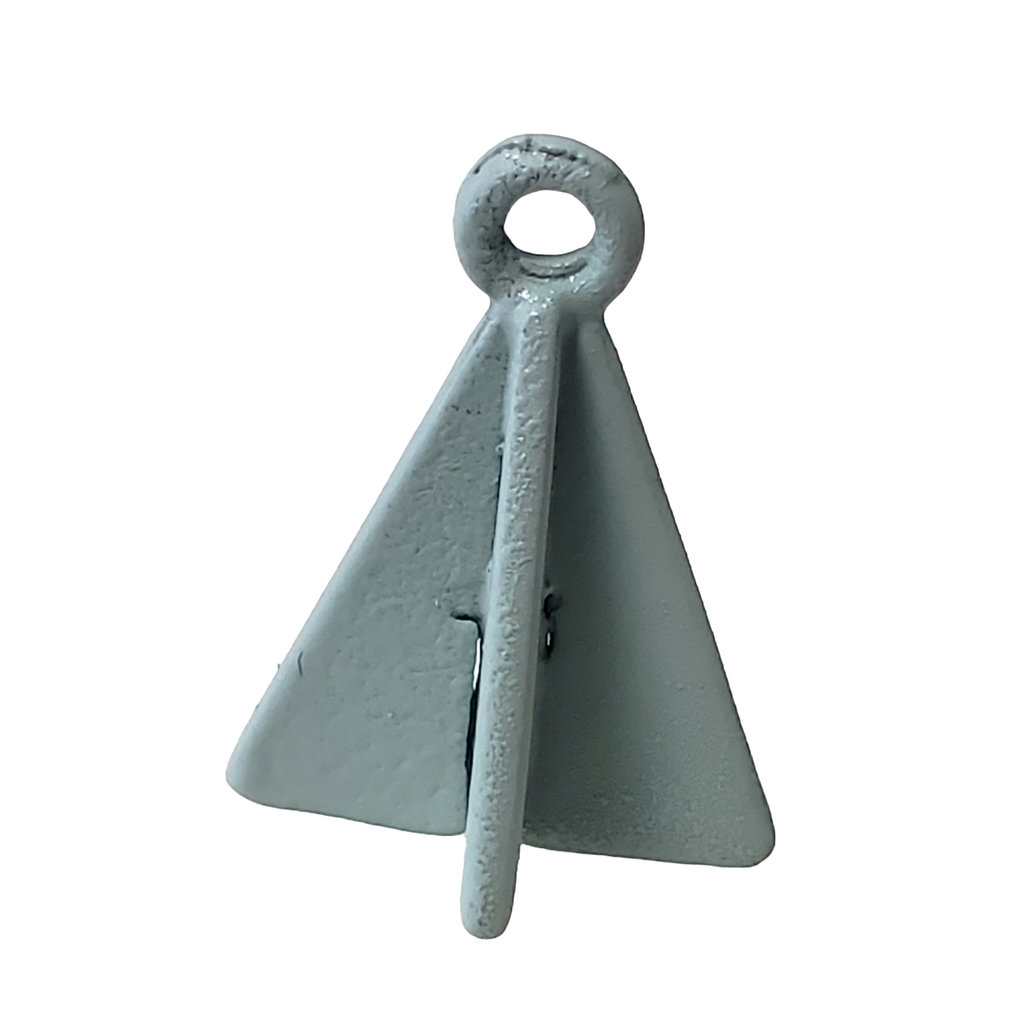 Double Triangle - Mint Colored Charm 8x17mm