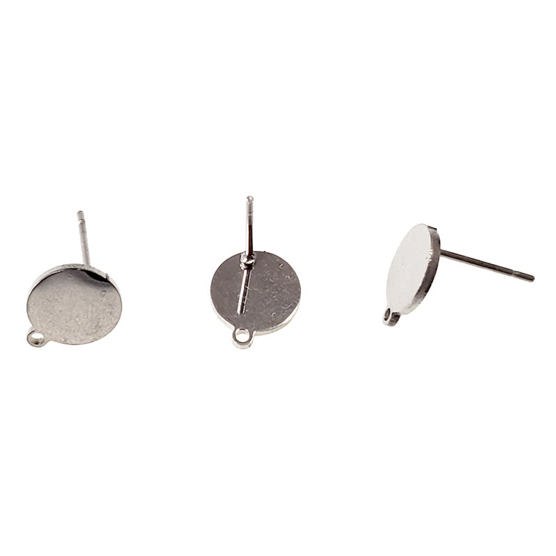 Stainless Steel Round Stud Earring