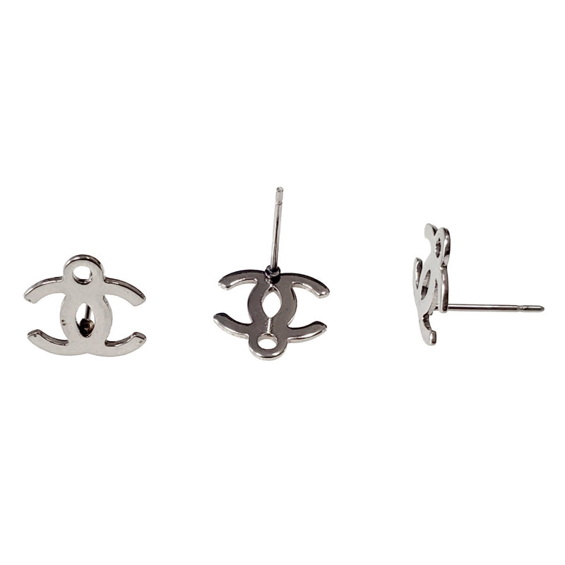 Stainless Steel Chanel Inspired Stud Earring