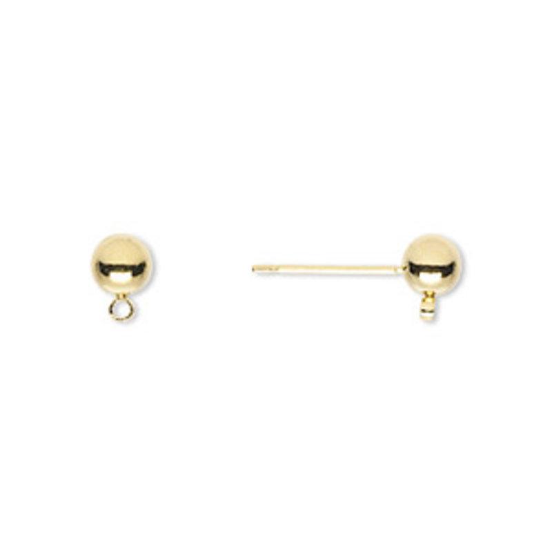 Stainless Steel Ball Earring Stud
