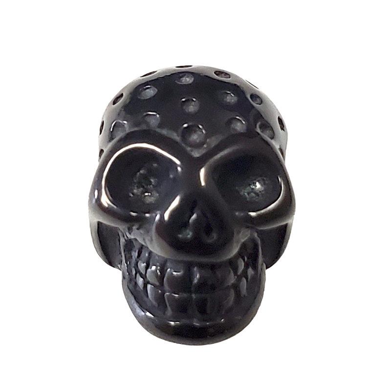 Stainless Steel Skull Charm 10x7mm 3pcs