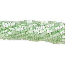 Preciosa #11 Hex 2-Cut Translucent Satin Sol Gel Lime