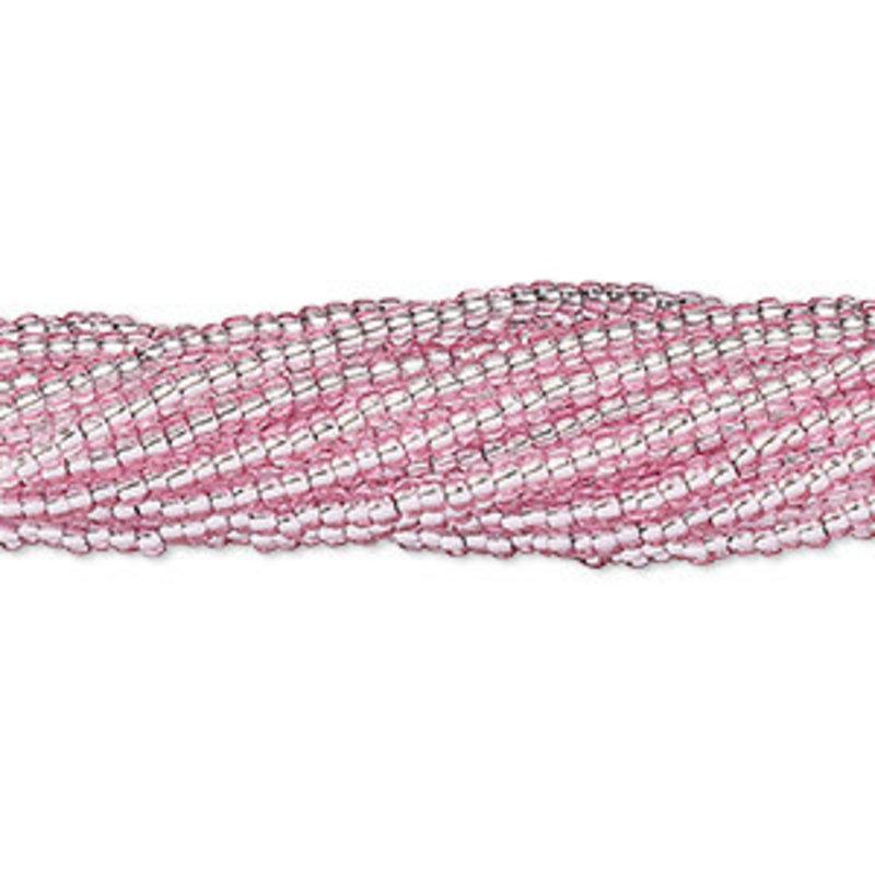 Preciosa Sb#11 Translucent Silver-Lined Sol Gel Medium Pink