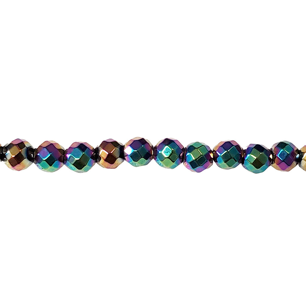 """Faceted Round Hematite Beads 4mm 16"""""""