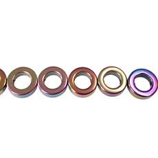 """Donut Hematite Beads 12mm 16"""" Strand"""