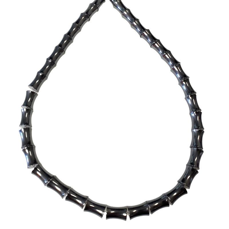 """Hourglass Hematite Beads 7x12mm 16"""" Strand"""