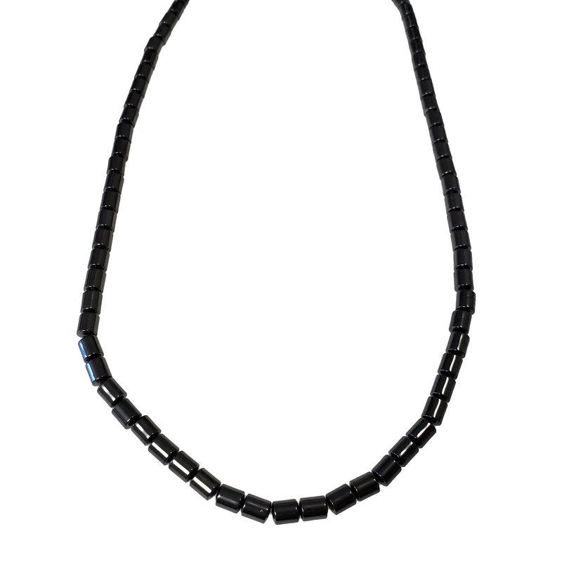"""Tube Hematite Bead 4x5mm 16"""" Strand"""