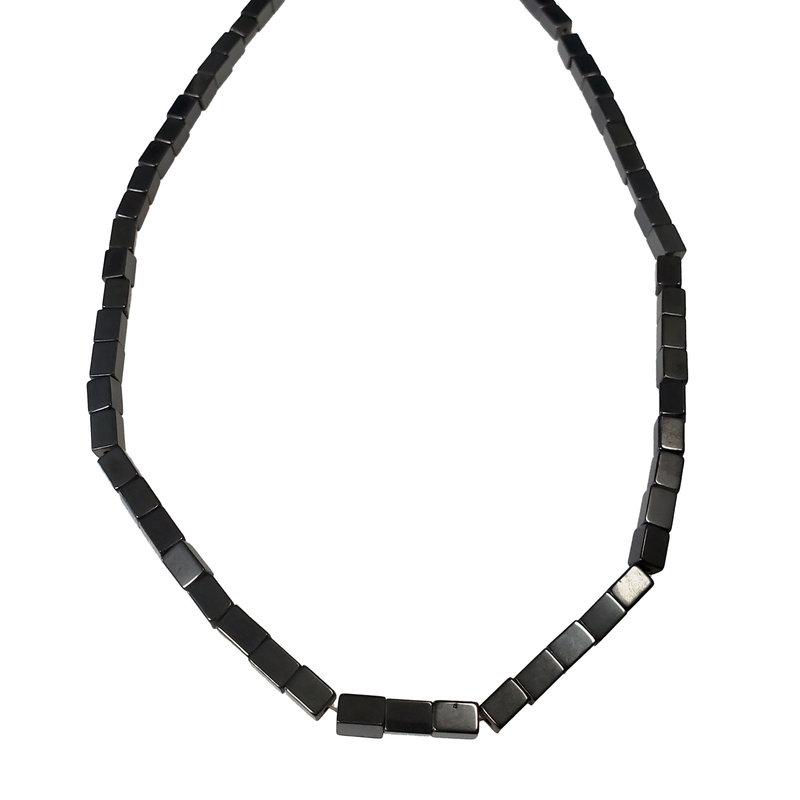 """Rectangular Hematite Beads 4x6mm 16"""" Strand"""