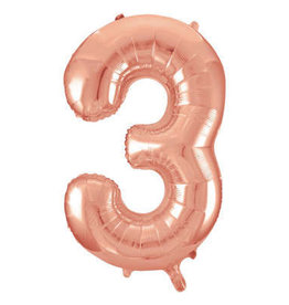 "34"" Rose Gold Number 3 Balloon"