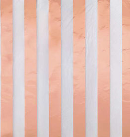 Rose Gold Foil Stripes Lucheon Napkins