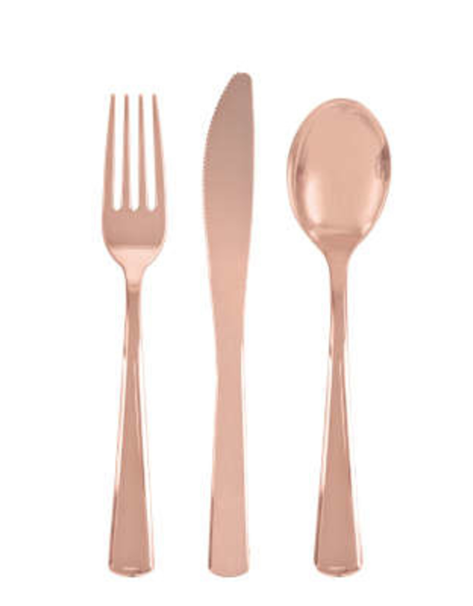 Rose Gold Solid Assorted Plastic Cutlery 18ct
