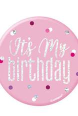 Glitz Pink & Silver Birthday Pin