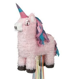 Pink Unicorn Pull Pinata