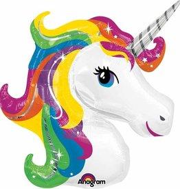 "33"" Unicorn Head Mylar"