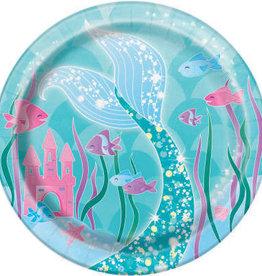 """Mermaid Round Dessert 7"""" Plates"""