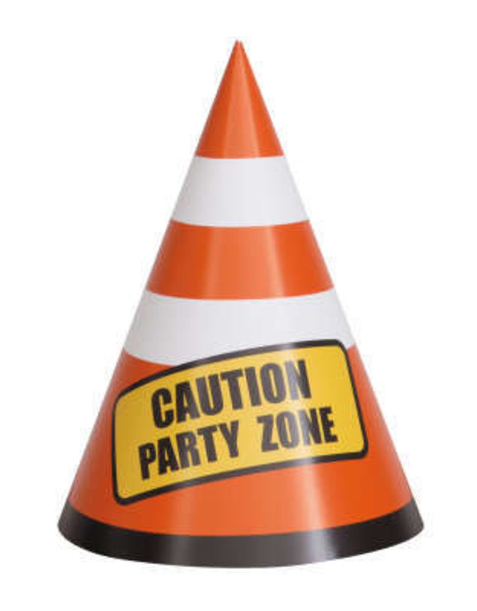 Construction Party Cone Hats 8ct