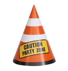 Construction Party Cones, 8ct