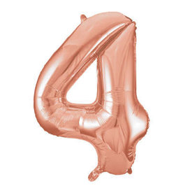 "34"" Rose Gold Number 4 Balloon"