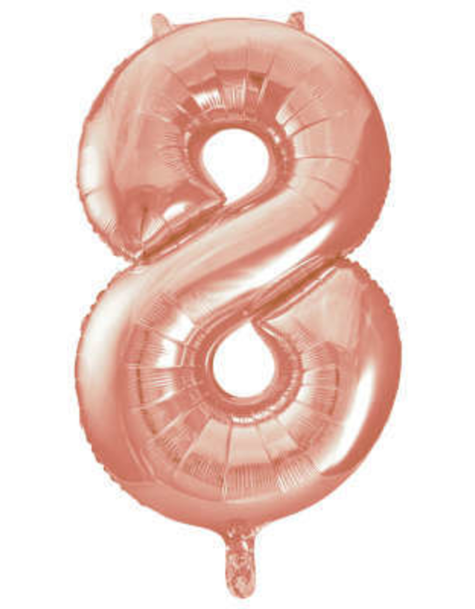 """34"""" Rose Gold Number 8 Balloon"""