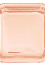 "Rose Gold Foil 9"" Square Plates"