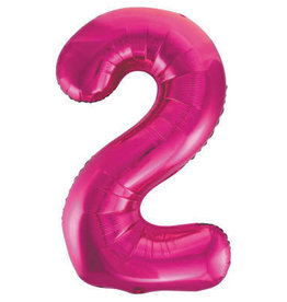 "34"" Hot Pink Number 2 Balloon"