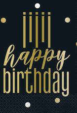 Metallic Happy Birthday Luncheon Napkins 16ct