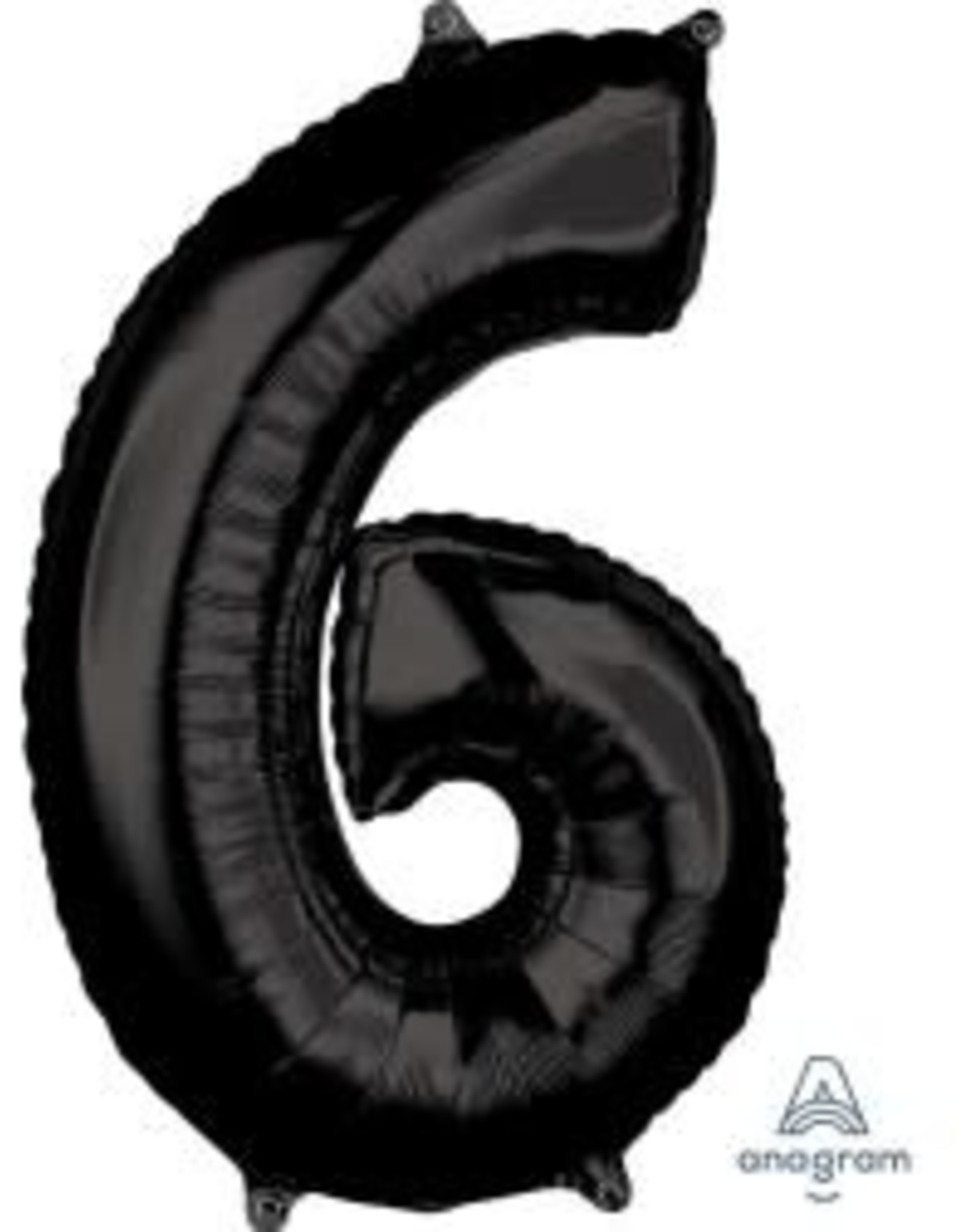 "34"" Black Number 6 Balloon"