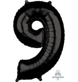 "34"" Black Number 9 Balloon"